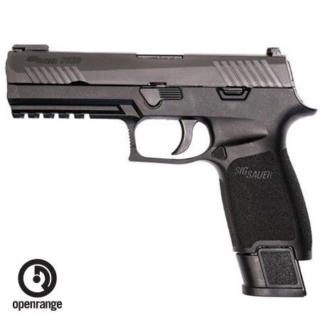 "Handgun New Sig Sauer P320 Tac Ops, 9mm,  4.7"" Barrel, Polymer Grip, TFO Front/Siglite Rear, 4 x 21rd Magazines"