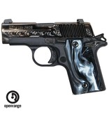 Handgun New Sig Sauer P238 Polished & Engraved Slide, Black Pearlite Grips, 380, 6 rd,