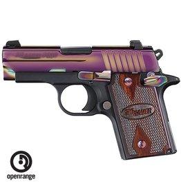 Rotational Sig Sauer P938, 9mm, 6 rd, Rainbow Slide, night sights