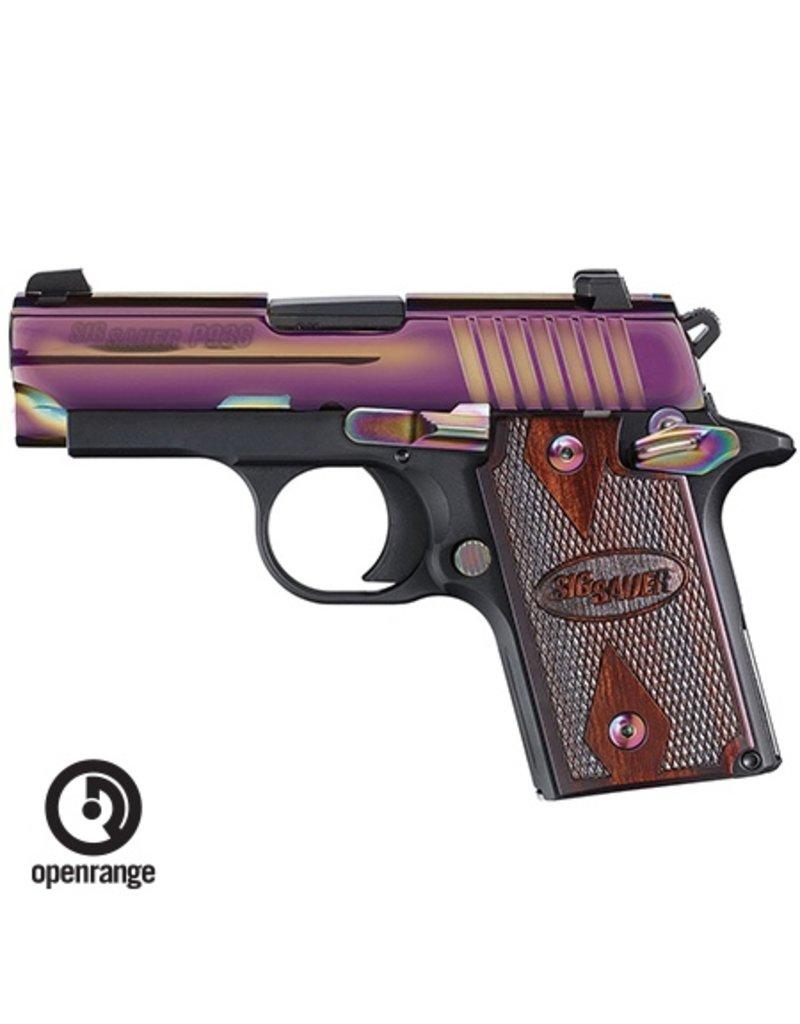 Handgun New Sig Sauer P938, 9mm, 6 rd, Rainbow Slide, night sights