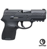"Handgun New Sig Sauer P320SCR, Sub Compact, 9mm, 3.6"" Barrel, 12 rd, Night Sights"