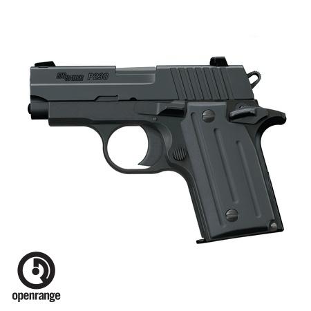 Handgun New Sig Sauer P238, 380, 6 rd, black w/night sights