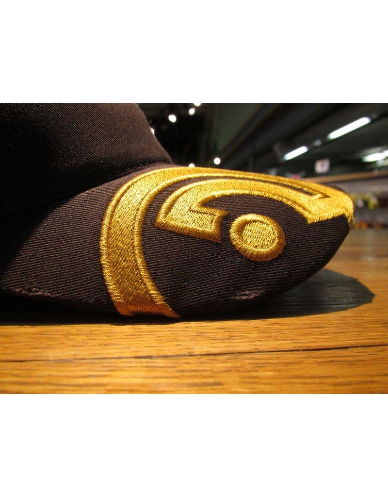 Hats Openrange Hat, Distressed, Brown w/ Gold Logo