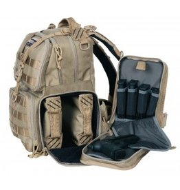 Pack and Etc (Firearm) GPS Tactical Range Backpack, Tan