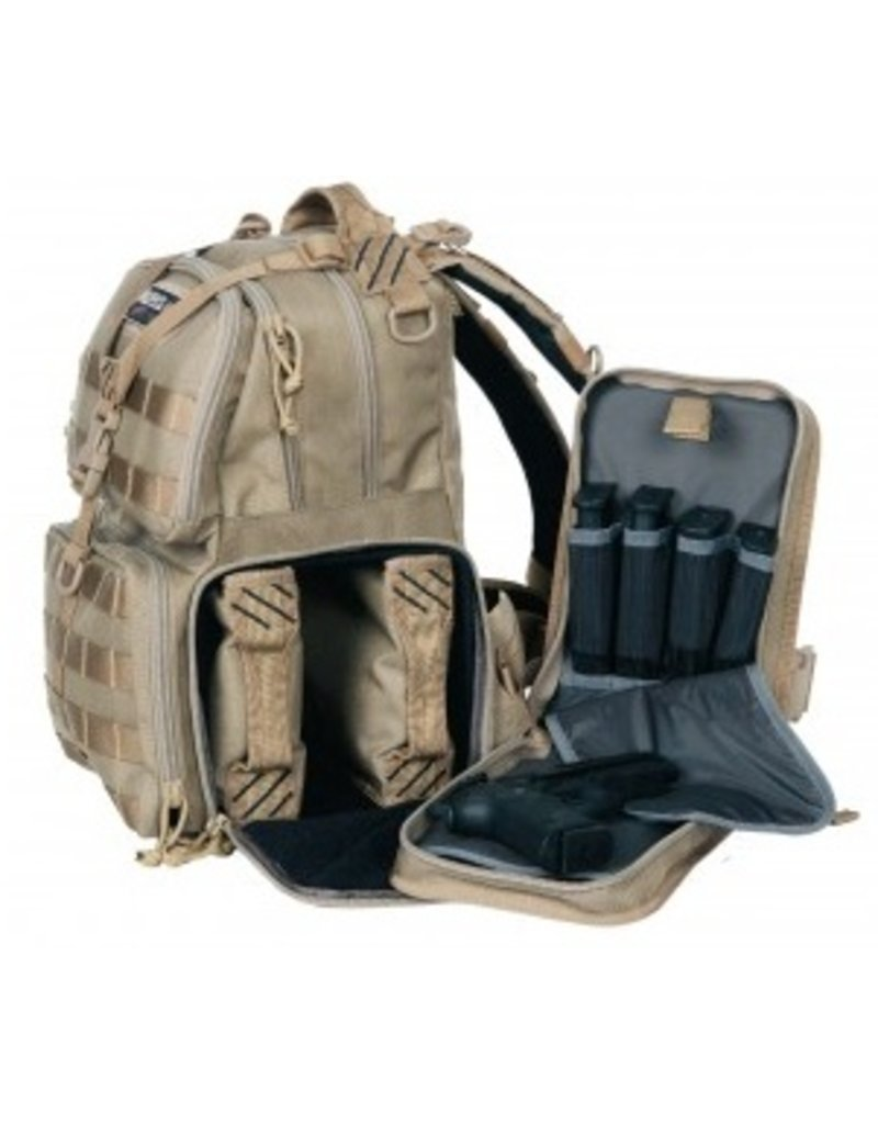 Pack and Etc (Firearm) GPS Tactical Range Backpack, Tan