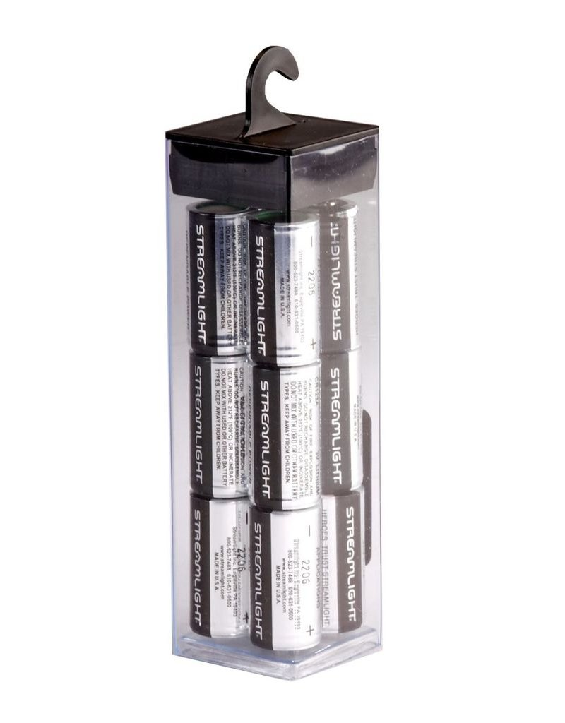 Battery Streamlight Lithium Batteries CR123 - 12 Pack