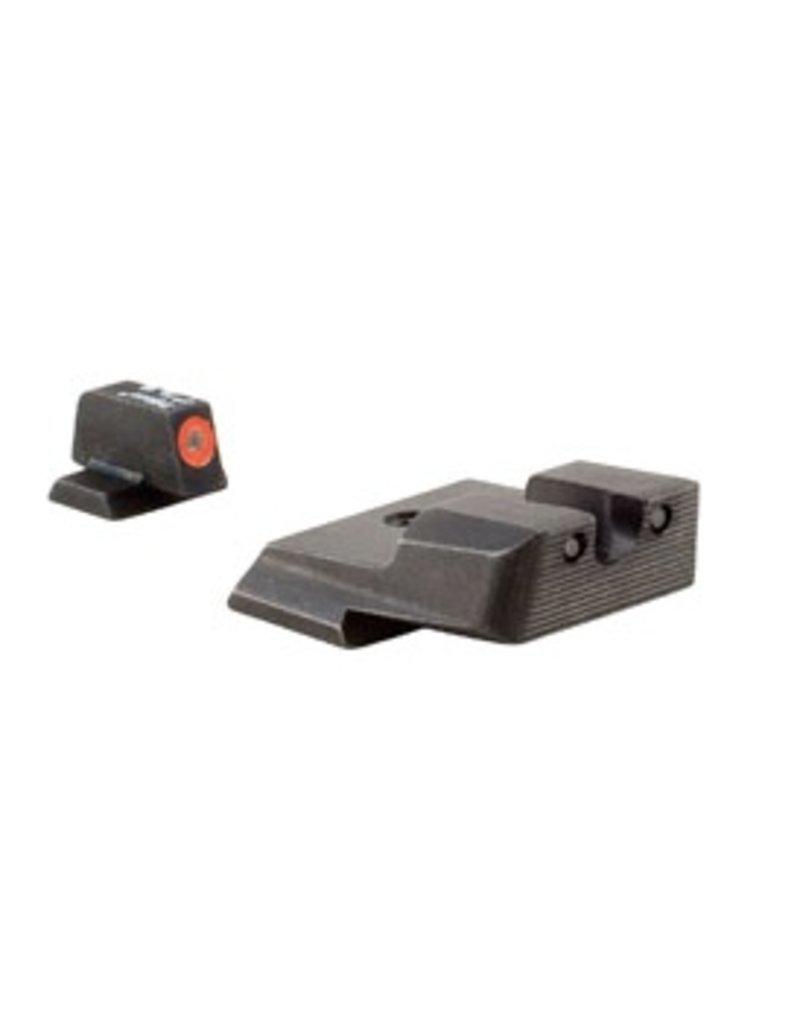 Optics Trijicon HD™ S&W M&P Shield Night Sight Set - Orange Front Outline