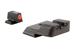 Optics Trijicon HD™ S&W M&P Shield Night Sight Set - Orange Front Outline