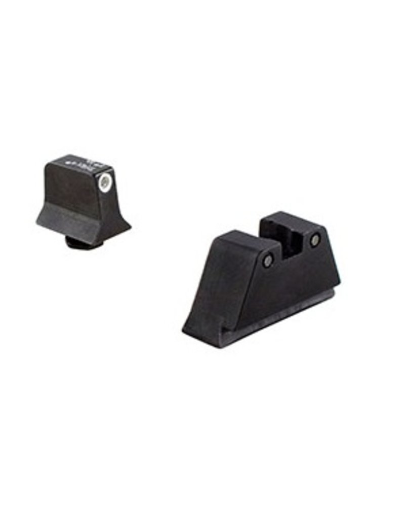 Optics Trijicon Bright & Tough™ Night Sight Suppressor Set — Black Front/Black Rear with Green Lamps — for Glock® Models 17, 17L, 19, 22, 23, 24, 25, 26, 27, 28, 31, 32, 33, 34, 35, 37, 38 and 39