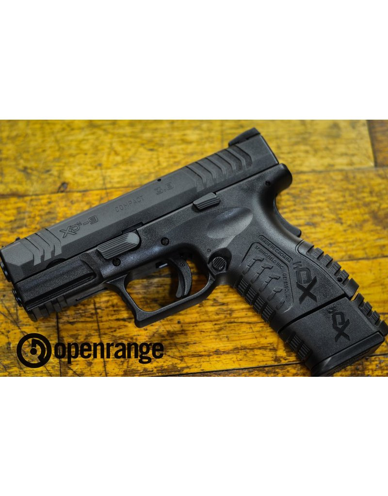 "Used Firearm Used Springfield XDM-9 Compact, 9mm, Black, 3.8"""