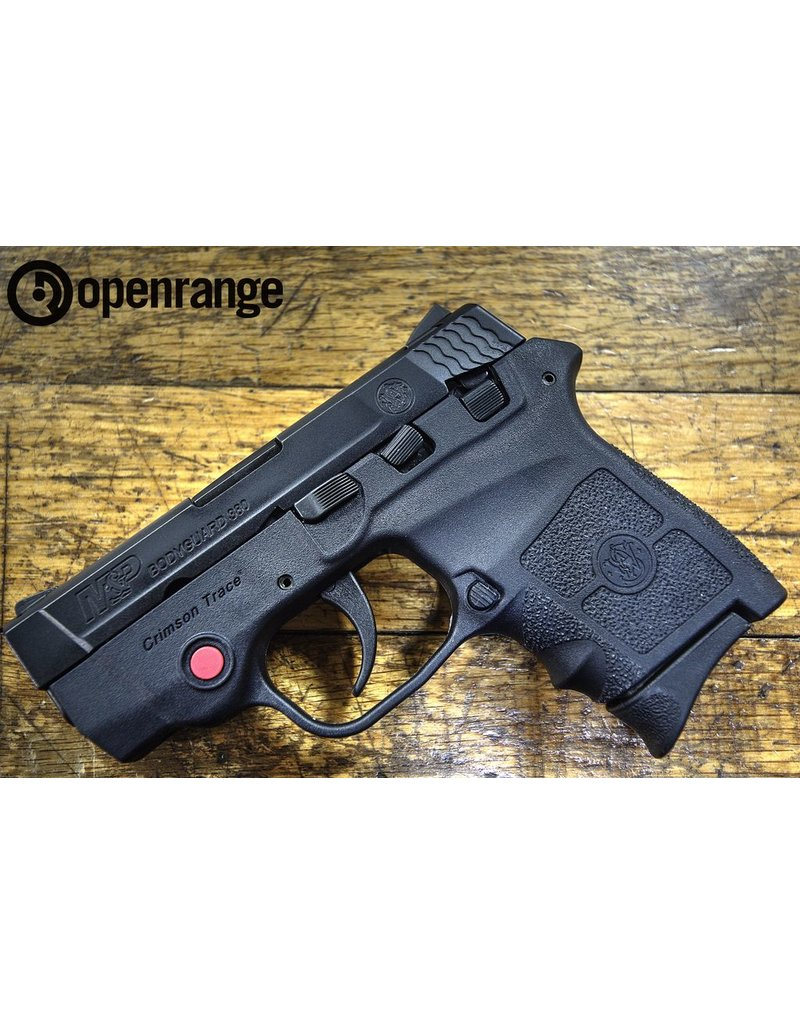 Used Firearm Used Smith & Wesson Bodyguard 380, w/Crimson Trace laser, 6 rd