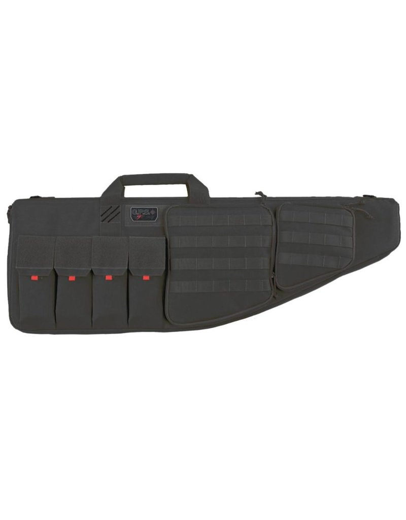 """Pack and Etc (Firearm) GPS Tactical AR case, with Handgun compartment, 35"""", Black"""