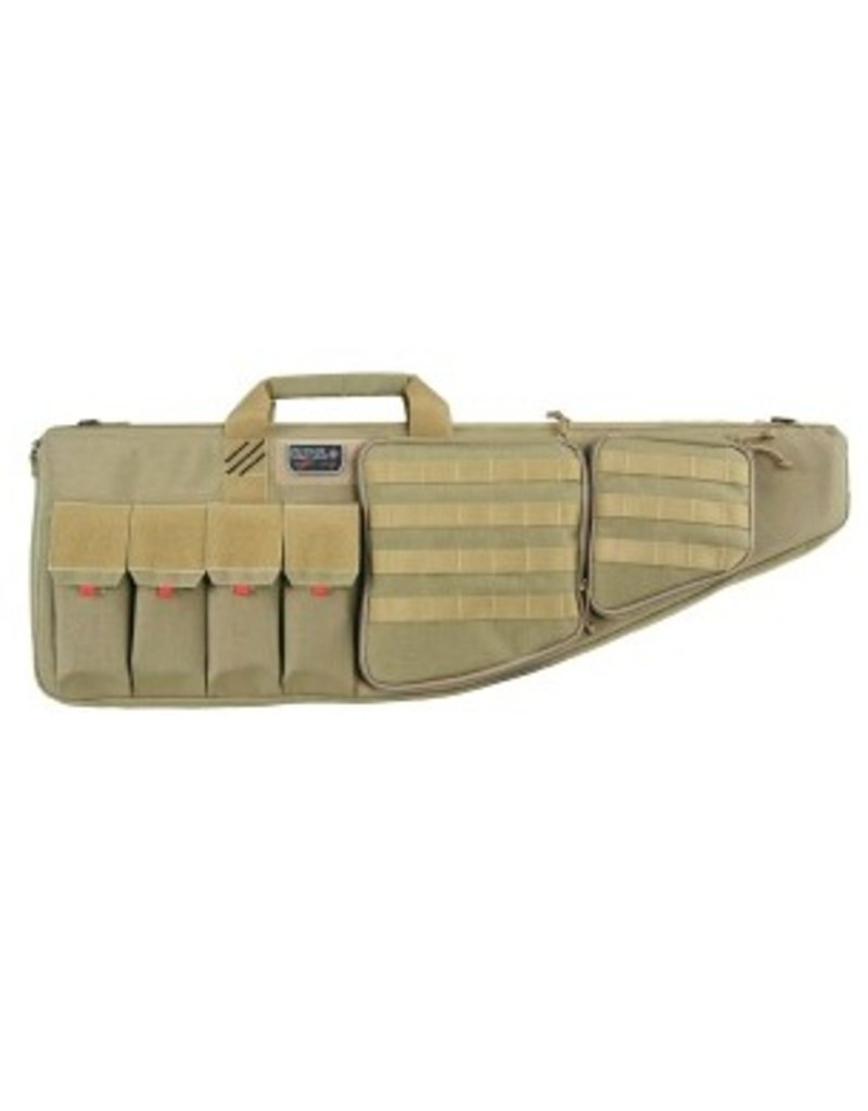 """Pack and Etc (Firearm) GPS Tactical AR case, with Handgun compartment, 35"""", Tan"""