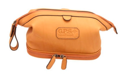 Pack and Etc (Firearm) GPS Shaving Kit, Leather (CO)
