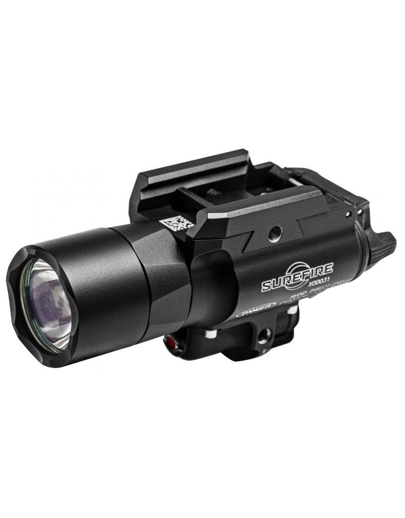 Flashlight Surefire X400 ULTRA, 600 LU, RED LASER, Black, Push/Toggle Switch
