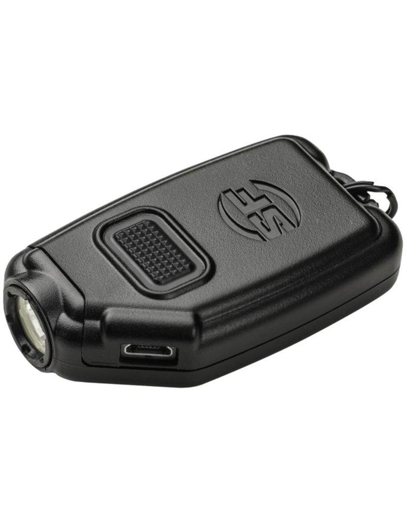 Flashlight Surefire Sidekick, Compact pocket light, Rechargeable, 15/60/300 lumens, Black