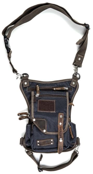 Purse Ukoalabag PJ bag, Blue Olive Brown