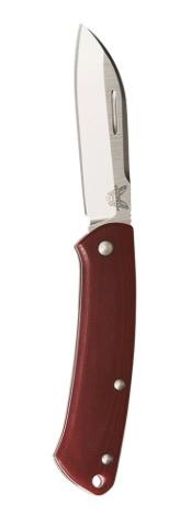 Folding Benchmade 319-1 Proper, Sheep's Foot Blade w/Wood Handle