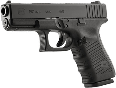 Rotational Glock 19C Gen 4 Compensated, 9 mm, 15 rd, 3 mags, USA Made (special run)