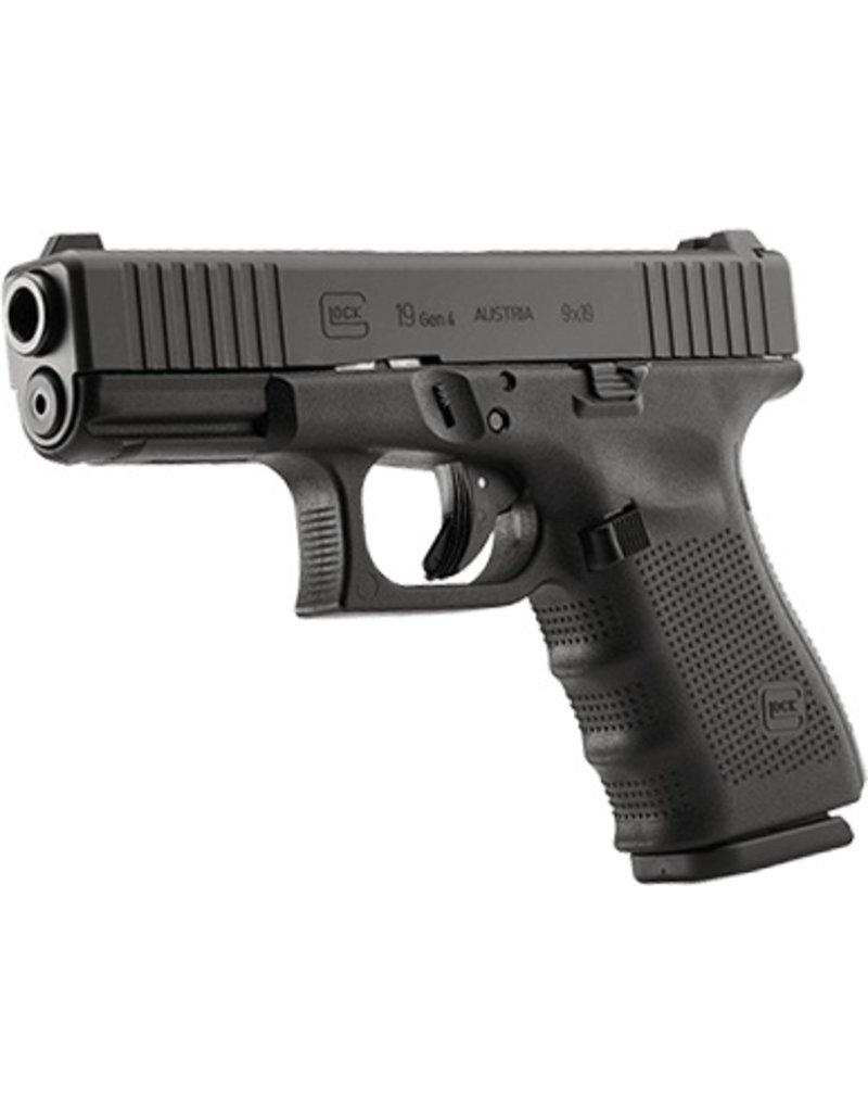 Handgun New Glock 19 Gen 4, 9 mm, 15 rd, 3 mags, Factory Front Serrations