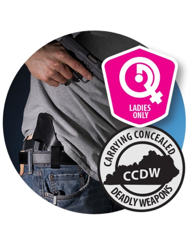 Basic KY CCDW class - Ladies Only - 9/17/17 SUN - 12:00 - 7:00