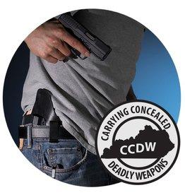 Basic KY CCDW class - 8/13/17 SUN - 12:00 - 7:00