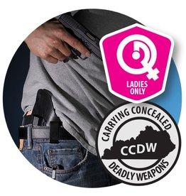 Basic KY CCDW class - Ladies Only - 7/16/17 SUN - 12:00 - 7:00