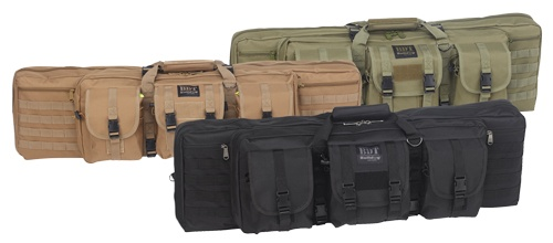 "Pack and Etc (Firearm) Bulldog Double Tactical Rifle Bag, Black, 37"""