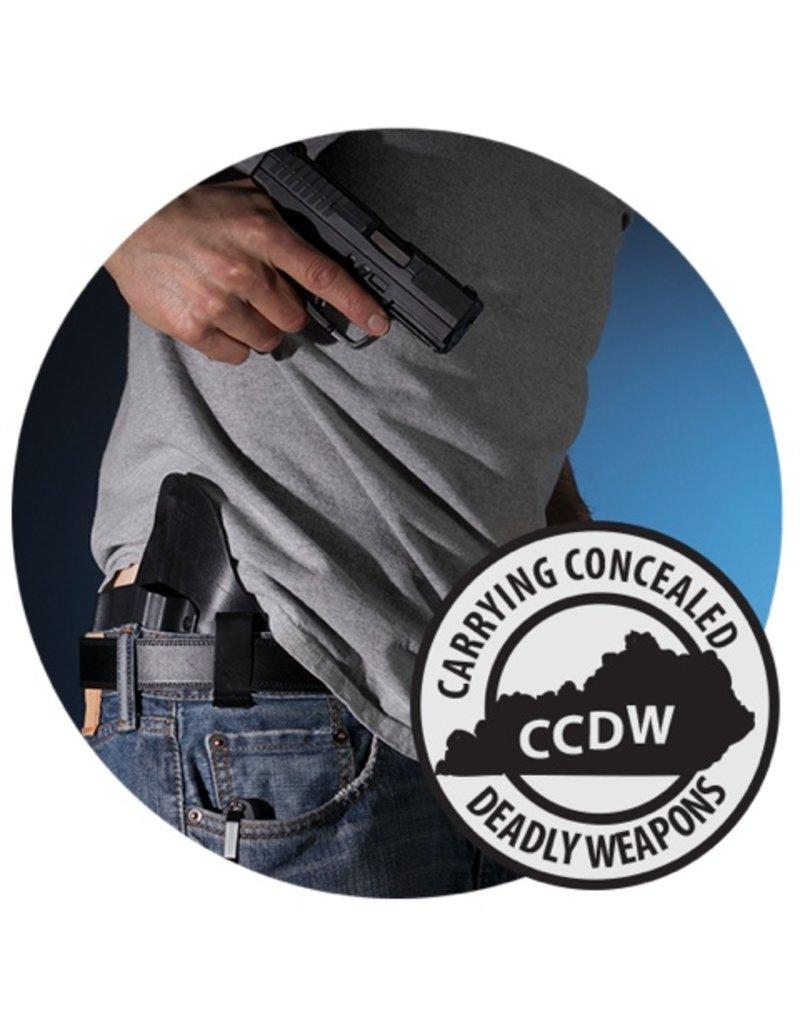 CCDW 10/07/17 Sat. - KY CCDW class, 9:30 to 4:30