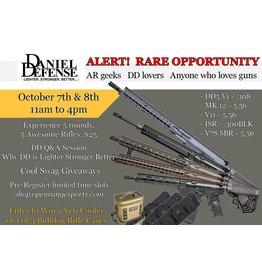 League / Fun 10/8 2pm - Daniel Defense Experience