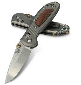 Folding Benchmade 556 Mini-Griptilian, Limited Edition, titanium with wood inlay handle