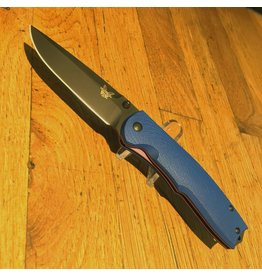 Folding Benchmade Torrent, Limited Edition, Plain Black Edge, Blue G10 grip