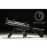 "Handgun New Zenith MKE Z-5K pistol, MP5K style, w/ SB pistol brace, Midwest Industries M-Lok Handguard, optic rail, 9mm, 4.6"" BLK"