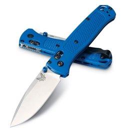 Folding Benchmade 535 Bugout, Satin Drop Point Blade