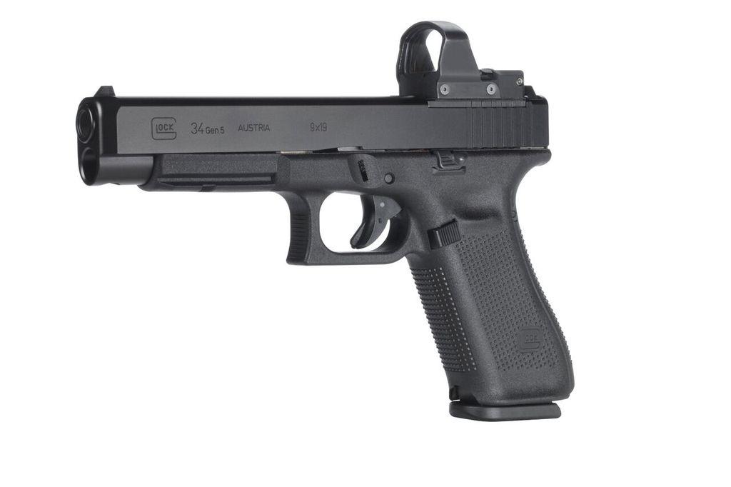 Handgun New Glock 34 Gen 5 MOS, 9mm, Practical/Tactical, 17rd, Black, adjustable sights
