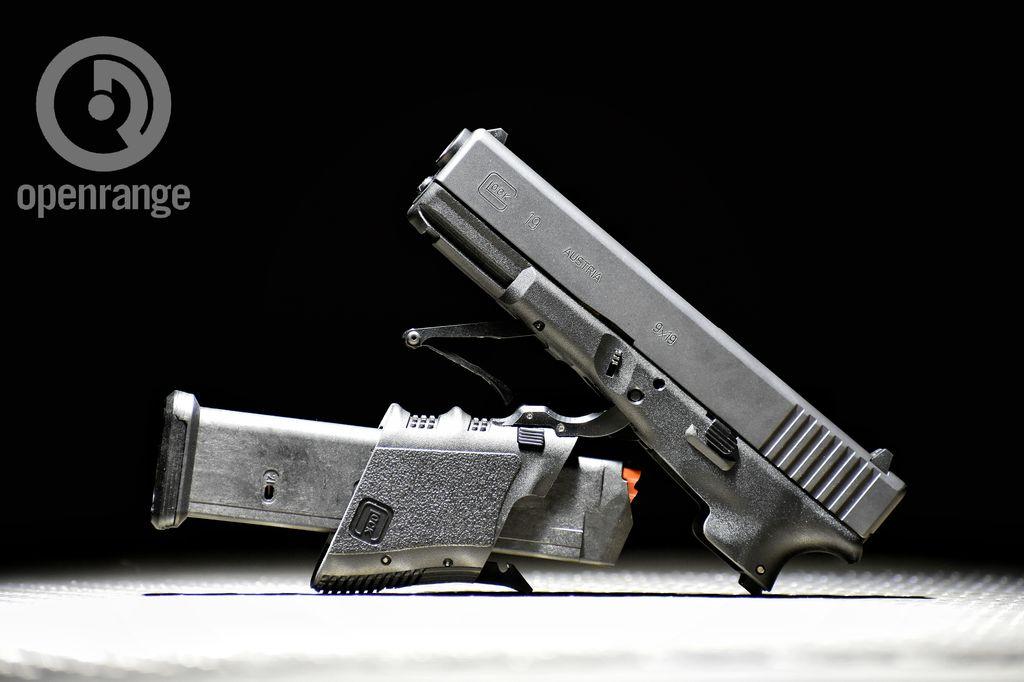 "Handgun New Full Conceal Folding Glock 19 gen 3, Black, 4.4"", 21rd"