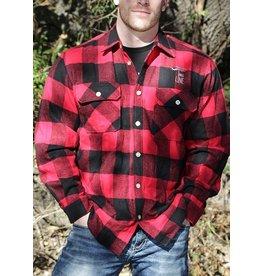 Shirt Short DROP LINE BUFFALO FLANNEL RED XL