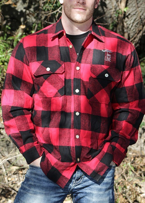 Shirt Short DROP LINE BUFFALO FLANNEL RED XL