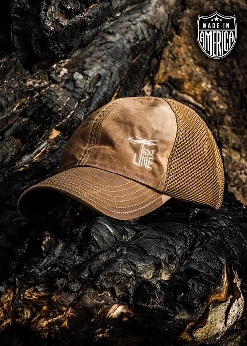 Shirt Short American Made Mesh Back Wax Hat Tan