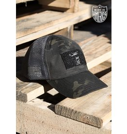 Shirt Short Drop Line Hat - Dark Multicam and Grey