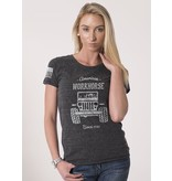 Shirt Short American Workhorse Tee, Dark Grey, Women's Small