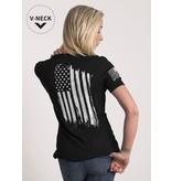 Shirt Short AMERICA, Black, Woman's Medium