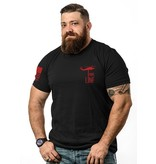 Shirt Short BASIC Tee, RED, XL