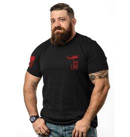 Shirt Short BASIC Tee, RED, Large