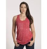 Shirt Short PLEDGE, Racerback Tank, Red, Woman's Medium