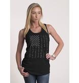 Shirt Short PLEDGE, Racerback Tank, BLACK, Woman's Medium