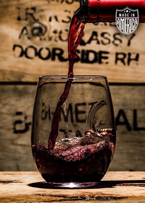 Shirt Short Ben Shot bullet Wine Glass - .308 projectile