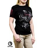 Shirt Short OZ COMPASS, Black, Woman's Small