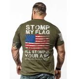 Shirt Short STOMP MY FLAG Tee, Military Green, L