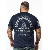 Shirt Short DON'T TREAD Tee, Midnight Navy, Large